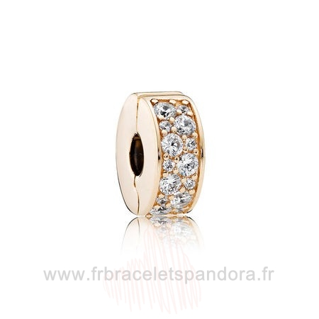 Grossiste Pandora Pandora Collections Brillant Elegance Clip 14K Or Clear Cz Entier