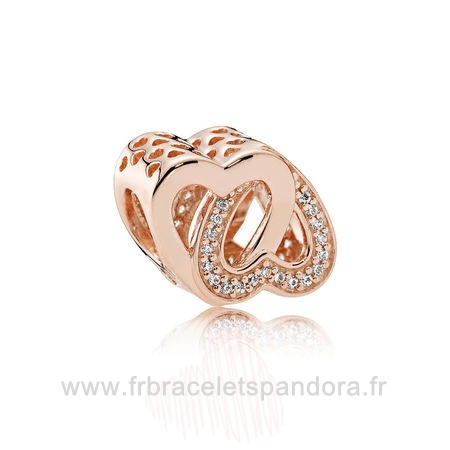 Grossiste Pandora Pandora Mariage Anniversaire Charms Entwined Amour Charm Pandora Rose Clear Cz Entier
