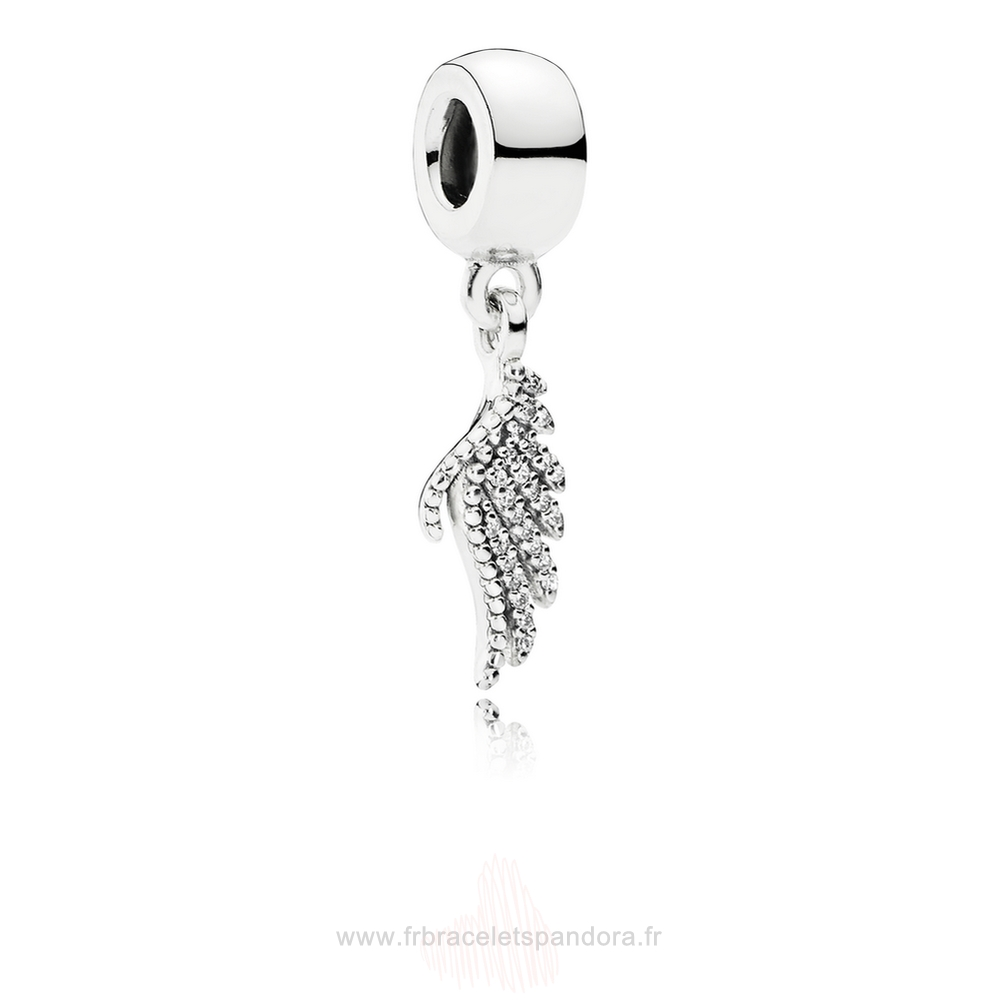 Grossiste Pandora Pandora Passions Charms Chic Glamour Majestueux Feather Dangle Charm Clear Cz Entier