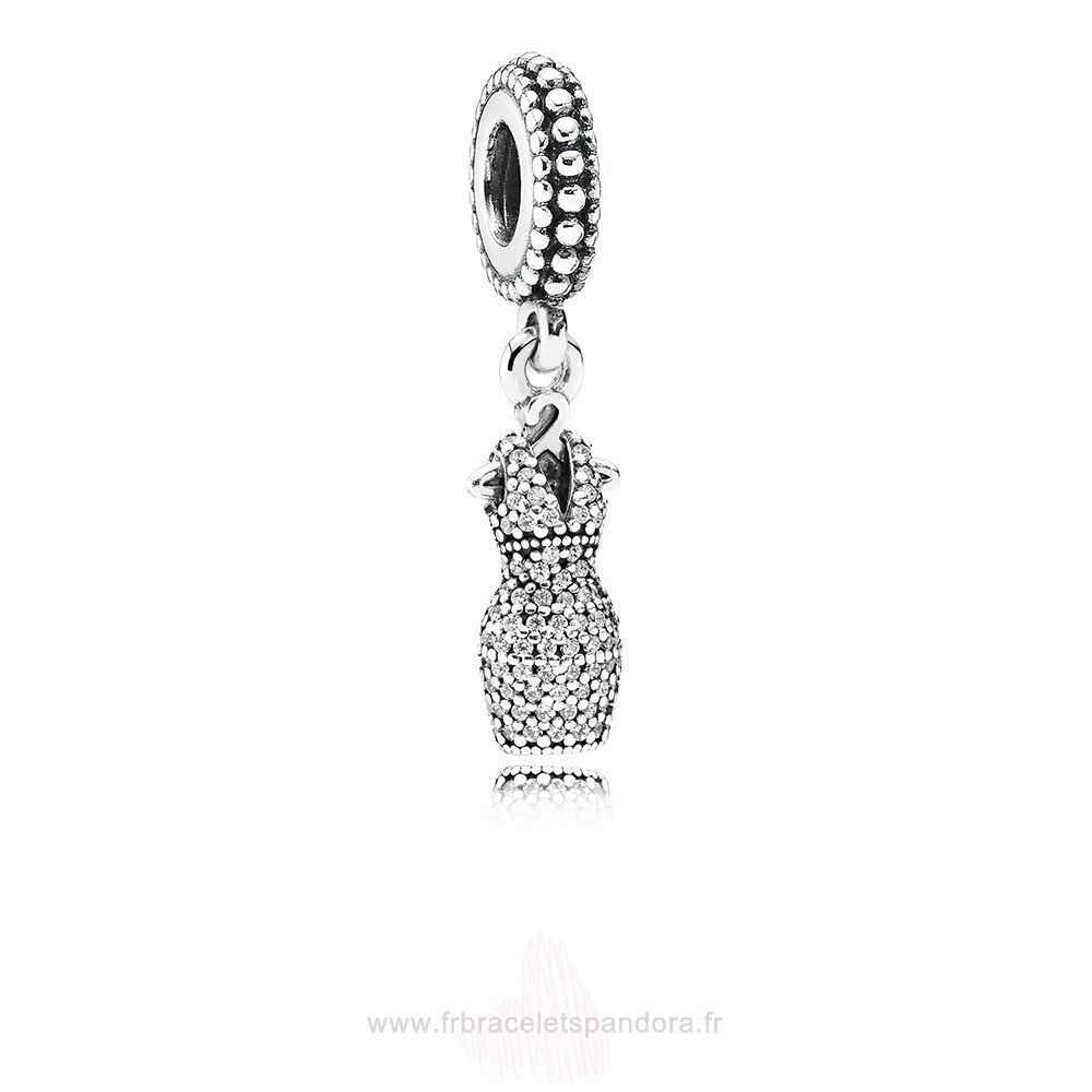 Grossiste Pandora Pandora Passions Charms Chic Robe Glamour Dazzling Dangle Charm Clear Cz Entier