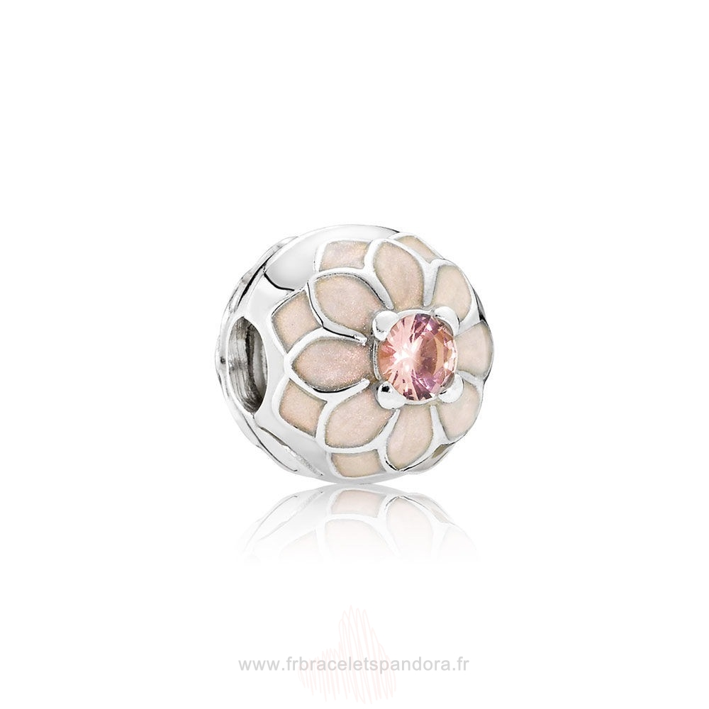 Grossiste Pandora Pandora Clips Breloques Blooming Dahlia Clip Creme Email Blush Rose Crystal Entier