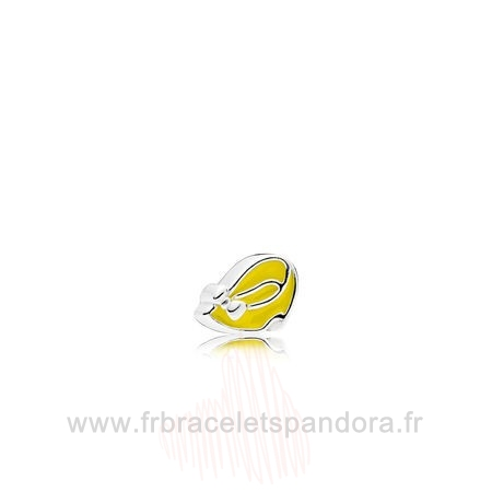 Grossiste Pandora Petite Charms Disney Minnie Chaussure Lumiere Yellow Enamel Entier