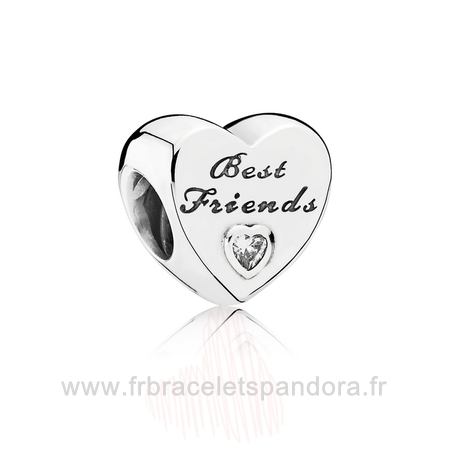Grossiste Pandora Amis Charms Amitie Coeur Clear Cz Entier