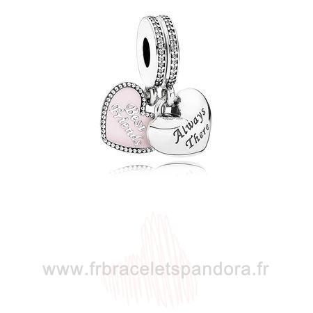 Grossiste Pandora Pandora Amis Charms Best Friends Charme Dangle Soft Rose Email Clear Cz Entier