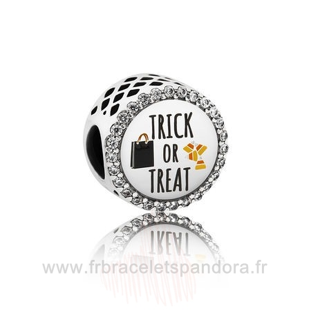 Grossiste Pandora Pandora Vacances Charms Halloween Trick Or Treat Charm Mixed Email Clear Cz Entier