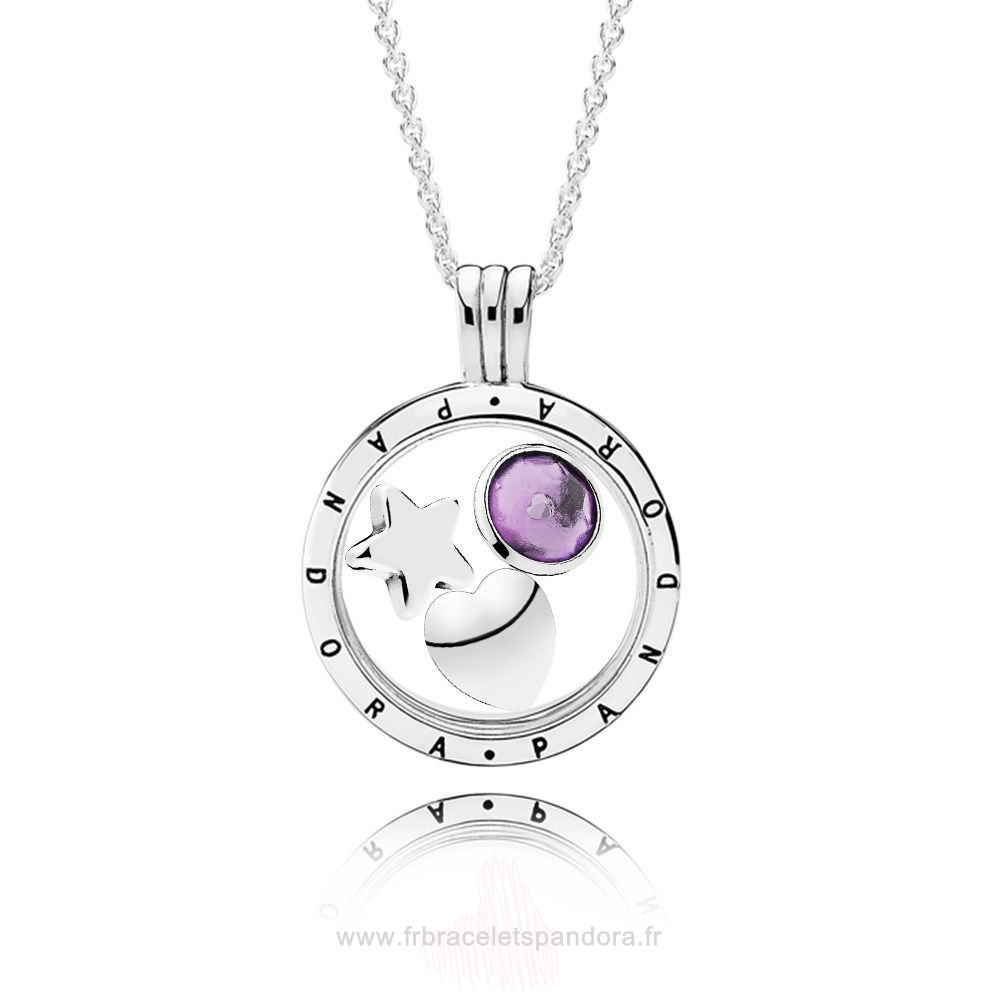 Grossiste Pandora February Birthstone Floating Locket Gift Set Entier