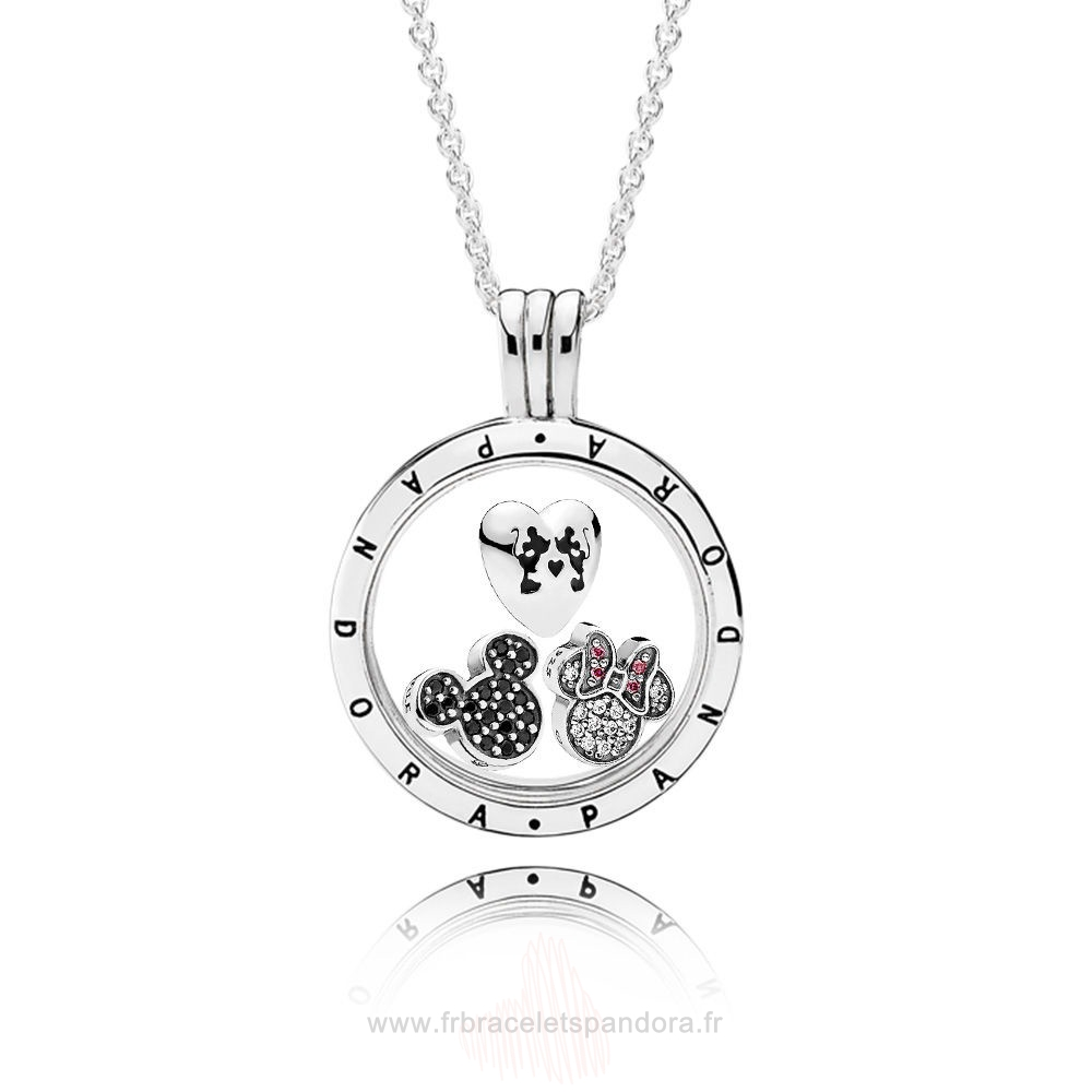 Grossiste Pandora Pandora Disney Sparkling Mickey Floating Locket Set Entier