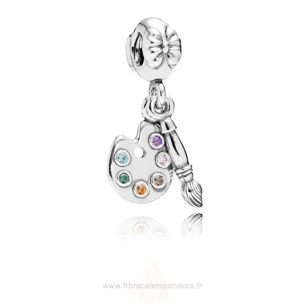 Grossiste Pandora Pandora Passions Charms Musique Arts Artiste Palette Dangle Charm Multi Colour Cz Entier
