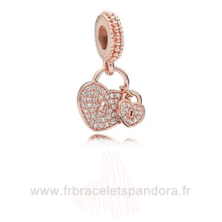 Grossiste Pandora Pandora Rose Amour Serrures Dangle Charm Clear Cz Entier