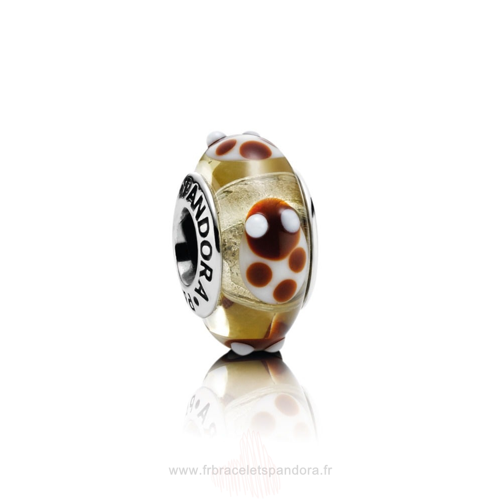 Grossiste Pandora Golden Glass Ladybird Charm Entier