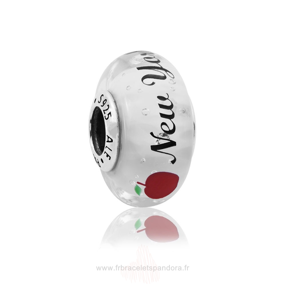 Grossiste Pandora New York City Murano Charm Mixte Émail Entier