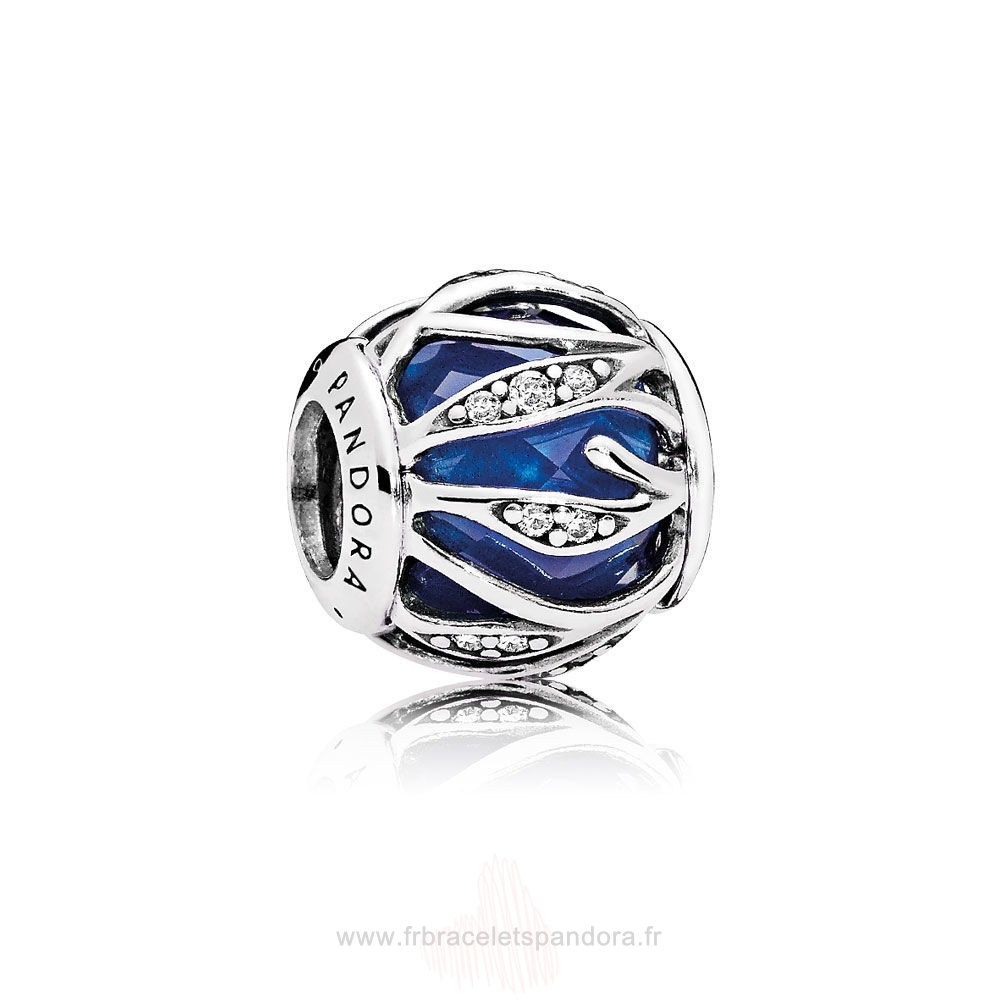 Grossiste Pandora Pandora Breloque De Couleur Breloque Nature'S Radiance Royal Blue Crystal Clear Cz Entier
