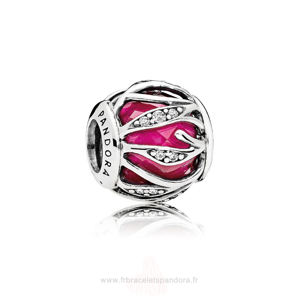 Grossiste Pandora Pandora Breloque De Couleur Breloque Nature'S Radiance Synthetic Ruby Clear Cz Entier